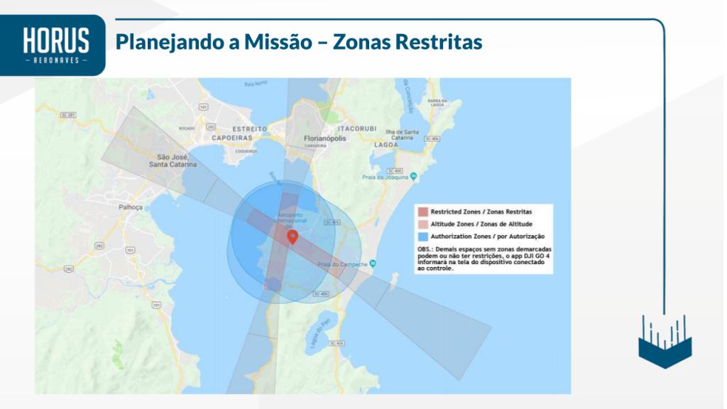 zonas restritas de voo para drones dji