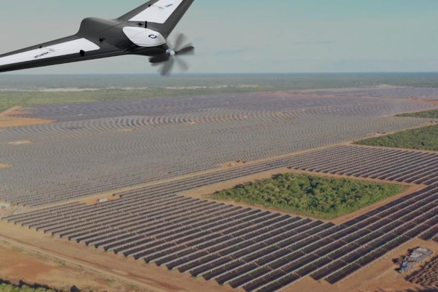 inspeção com drones em parques solares